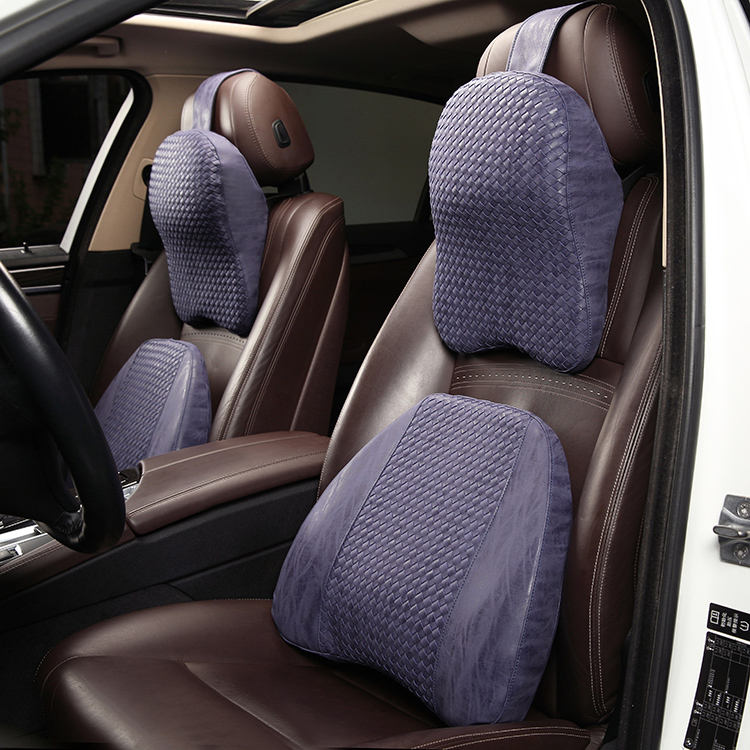 Professional manufacture produce adult full set luxury car headrest neck pillow