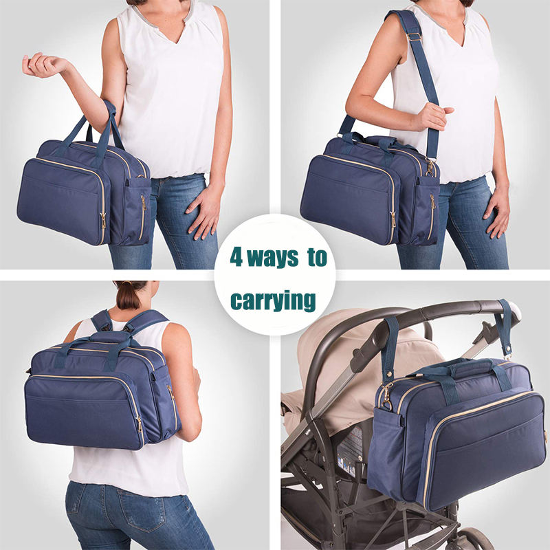 4-in-1 Convertible Baby Diaper Bag Travel Back Pack Baby Bag with Multi Purpose Travel Baby Bag