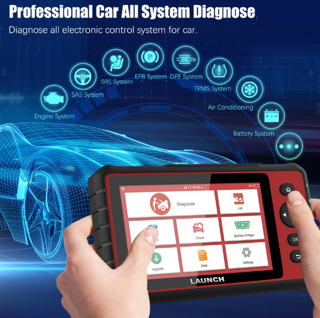 Original X431 CRP909E Professional OBD2 Scanner Full System Diagnostic Tool TPMS ABS OIL SAS 15 Reset Service
