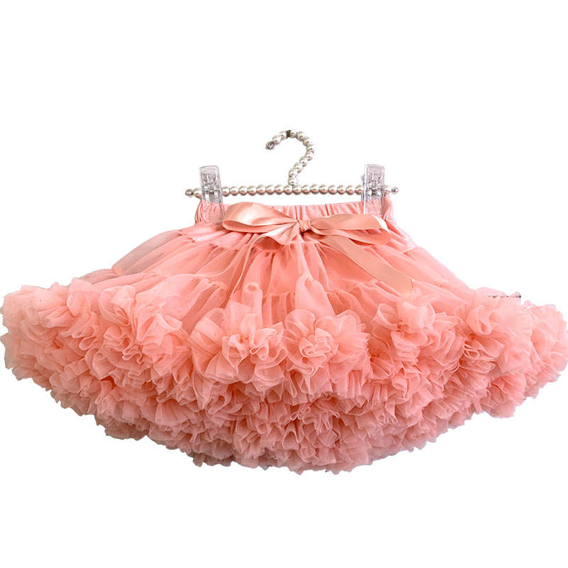 2019 Girl Tutu Skirt Chiffon Princess Dance Party Pettiskirt Ruffles Kids Bow Ballet Skirts