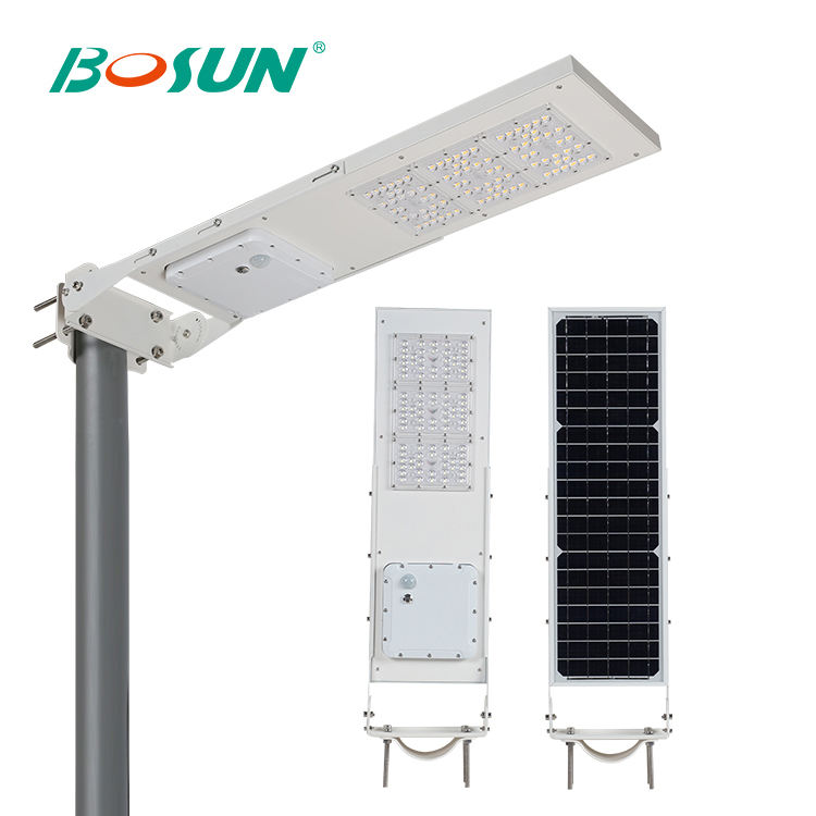 BOSUN China Manufacturers 15w 30w Solar Energy Power Wall Mounted Ip65 All In One Led Garden Street Light