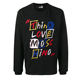 Clothing Men Long Sleeve Rainbow Embroidered Letters Autumn Long Sleeve T Shirt,High Quality Black Long Sleeve Tshirt