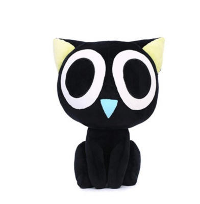 Hot Luo Xiaohei Battle Big Eyes Doll Cartoon Black Cat Big Face Cat Doll