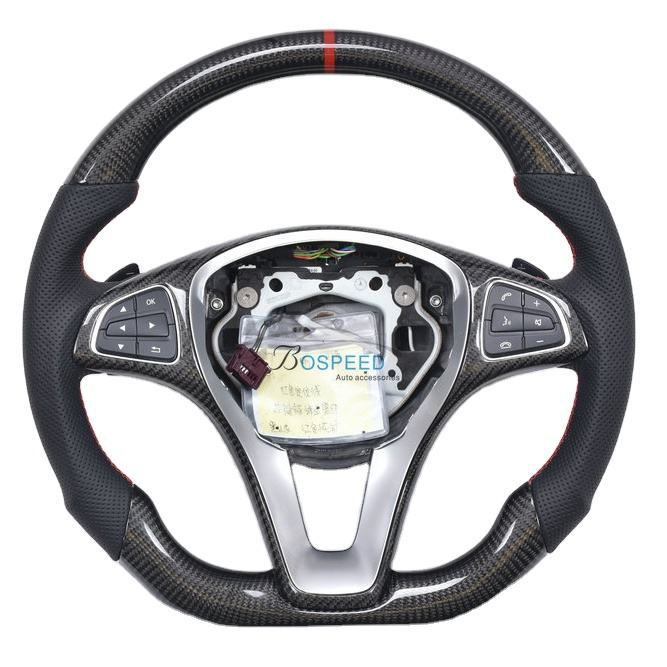 Carbon Fiber racing car steering wheel for Mercedes CLA W205