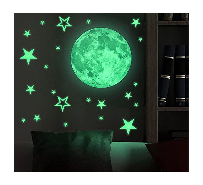 Myway custom pvc wand <span class=keywords><strong>aufkleber</strong></span> für kinder zimmer nacht glow in the dark sterne und mond <span class=keywords><strong>aufkleber</strong></span> wand dekoration moderne <span class=keywords><strong>3d</strong></span> <span class=keywords><strong>aufkleber</strong></span>