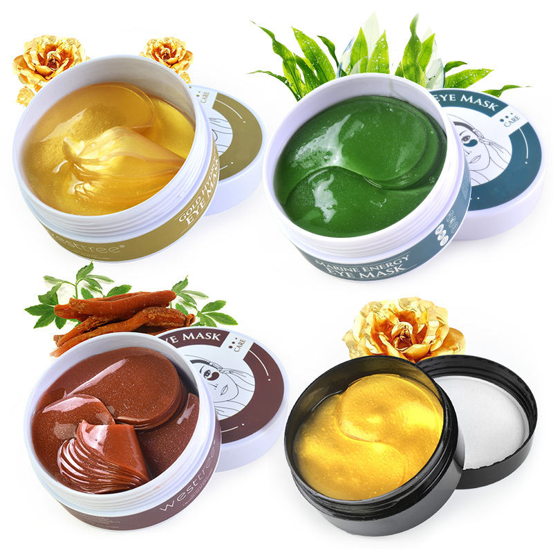 30Pair Seaweed Collagen Gel Eyes Mask Private Label Dark Circle Remove Anti Puffiness Gold Eye Patches