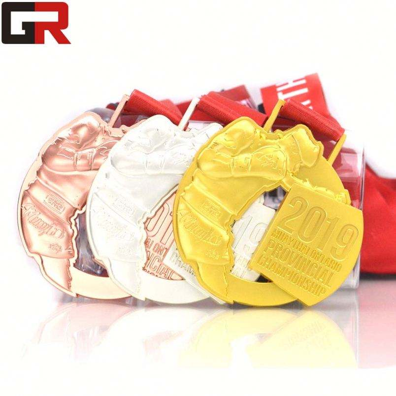 China Wholesale Copper 2D/3D Antique Gold Sports Award Medals With Ribbon