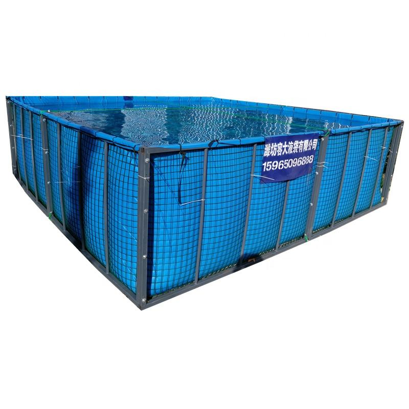10000L Factory recirculating round and Square rectangle water trepang prawn fish lobster farming tank