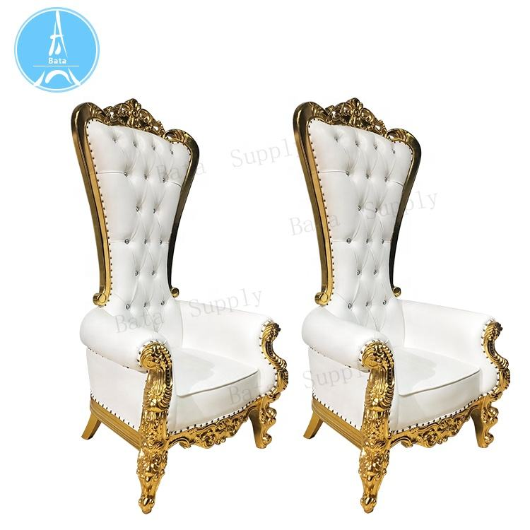 Bride and Groom Wedding Sofa High Back Royal Furniture King Throne Chair