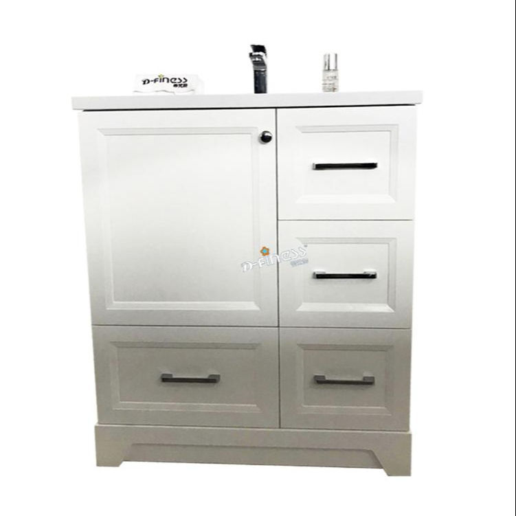 white North America vanity 30 inch hotel motel bathroom furniture of water proof cabinet