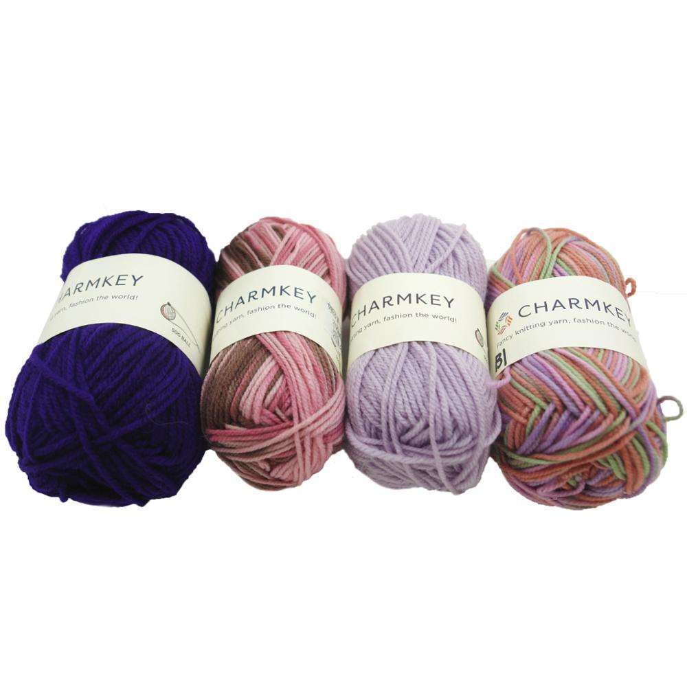 Acrylic knitting yarn for hand knitted crafts and kids tools
