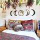 Dropshipping bohemian wall decor bedroom moon crescent shaped phase design decoration mirror