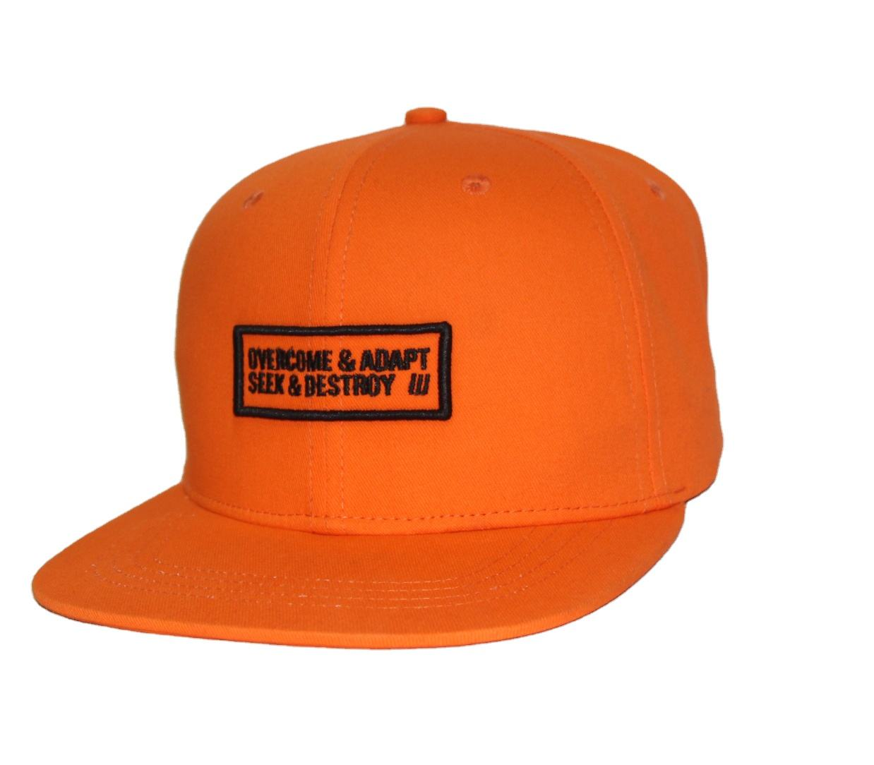 Letters Flat Logo Embroidering Lovely Babies Orange Cotton Snapback Caps