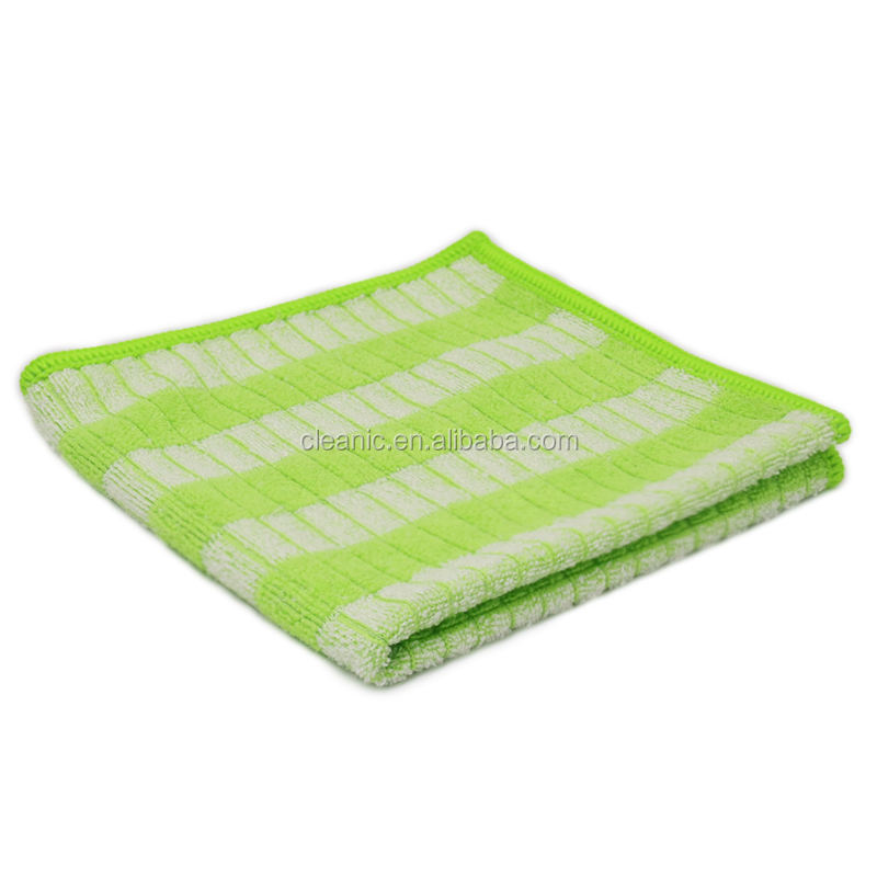 Square Size 30x30cm 6pc Pack Microfibre Ultra Soft Cleaning Dish Washing Bamboo Fiber Cloth