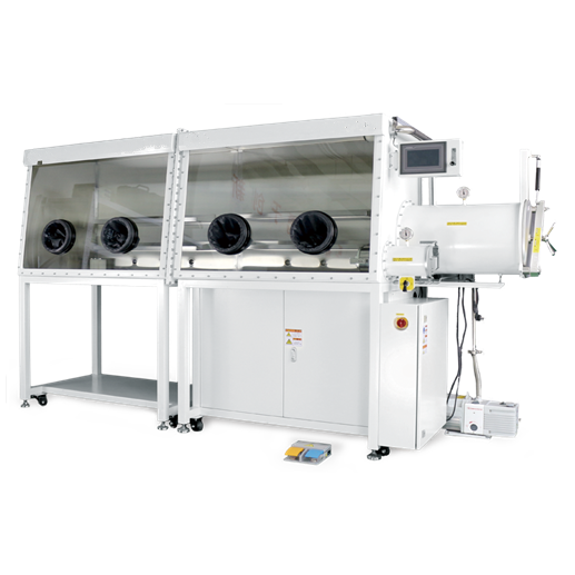 EXW Price Lab Single Side Double- station Chamber Purification Vacuum Glove Box With Water And Oxygen Content Below 1ppm
