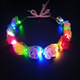 Party supplies light up led flower crowns new year Christmas cute LED flower headbands for children