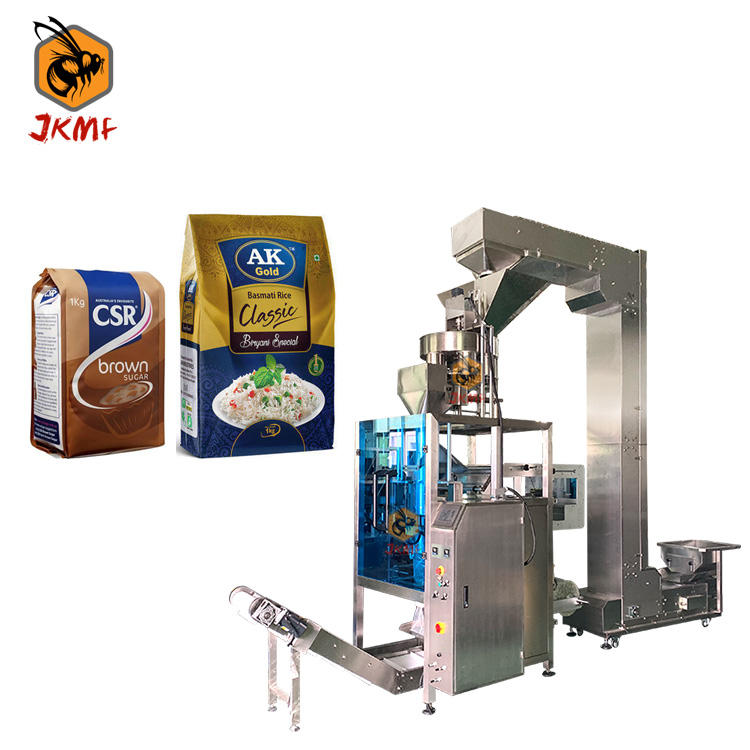 Automatic Weighing 500g 1kg 2kg 5kg Salt Rice and Sugar Vertical Filling and Packing Machine