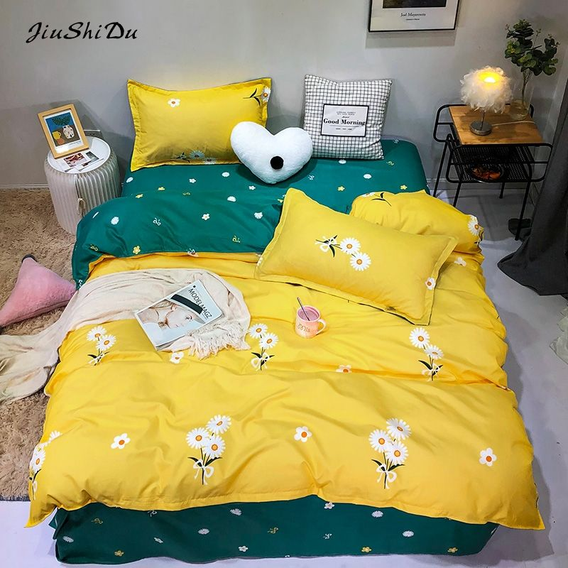 Hot Style Lovely Daisy Children der Bedroom Bed Set von Four 1.2/1.5/1.8/2.0m Bed Sheet 30 PVC Bag Adult 100% Polyester Fabric 3-4