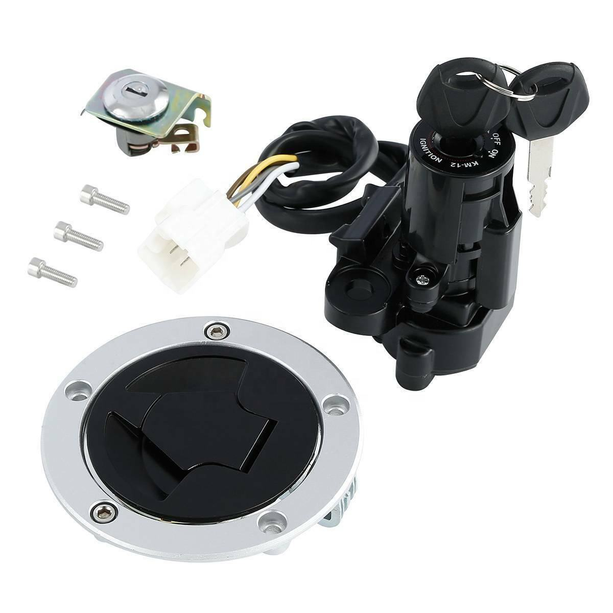 TCMT XF-2873 Fuel Gas Cap Ignition Switch Seat & Lock Keys Fit For Kawasaki Z1000 10-16