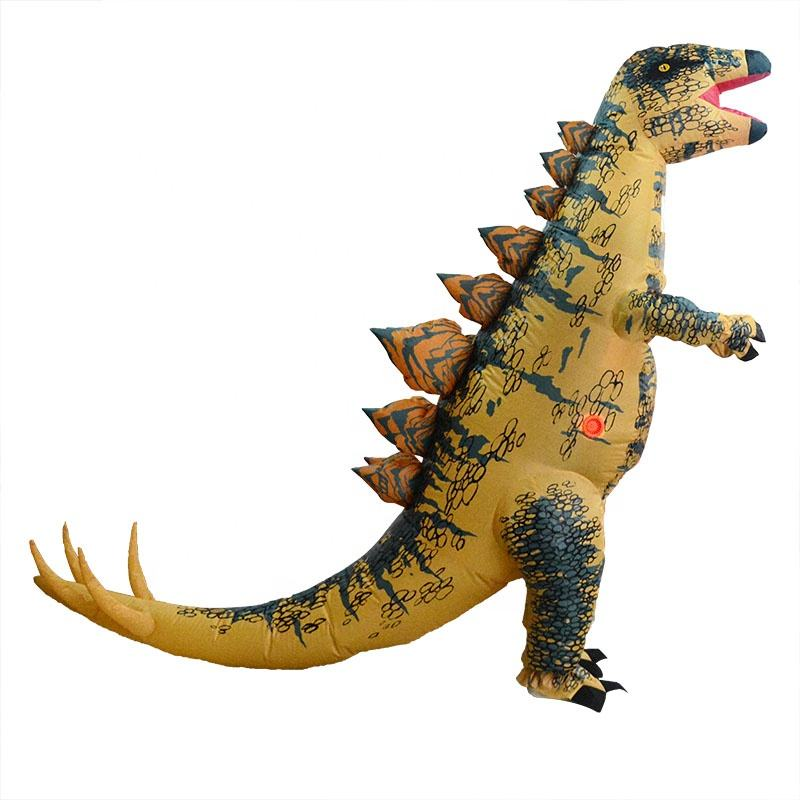 HUAYU New Arrival Halloween Dinosaur Inflatable Costume Stegosaurus Funny Cosplay Costume For Adults