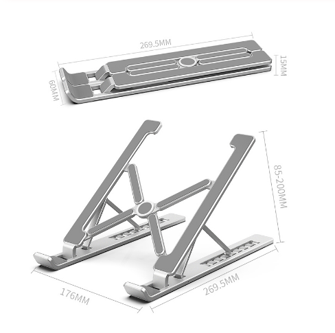 Portable 17 Inch Laptop Stand Foldable Notebook Stand Holder For Aluminum Alloy Computer Cooling Bracket