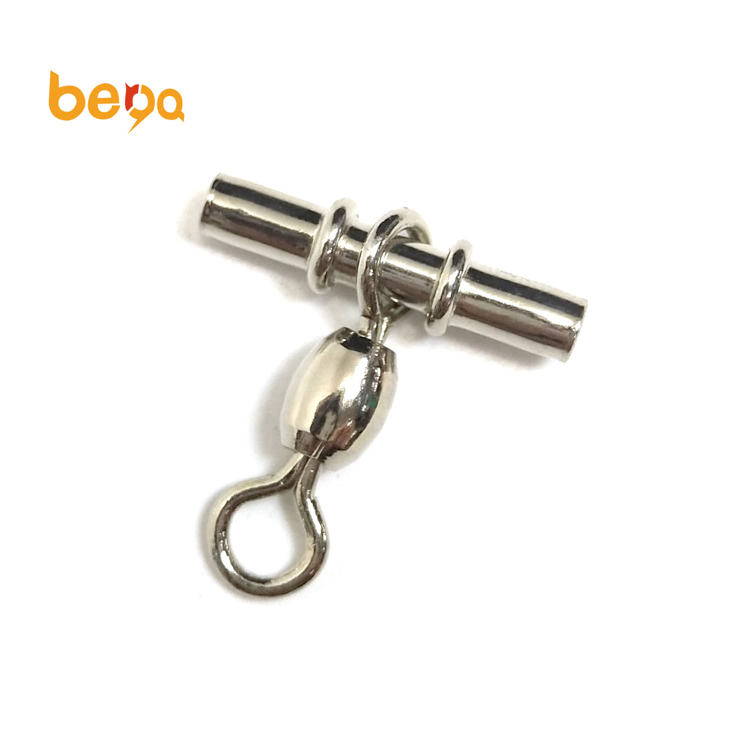 High Quality Cross Line Crane Fishing Swivel With Solid Ring Brass Tube Fishing Line Connector Fishing Accessories