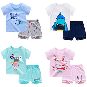 Girls Clothing Sets short sleeve Baby Girl Clothes Suits Lovely Print T-shirt+Shorts 2pcs Sets