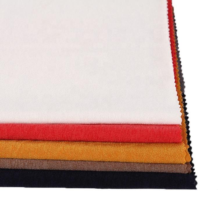 2020 Лидер продаж поролоновые ровные окрашенная трикотажная ткань полиэстер с эластичной пряжи