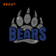 Bears Paw Motif Iron on Rhinestone Transfer for Clothes