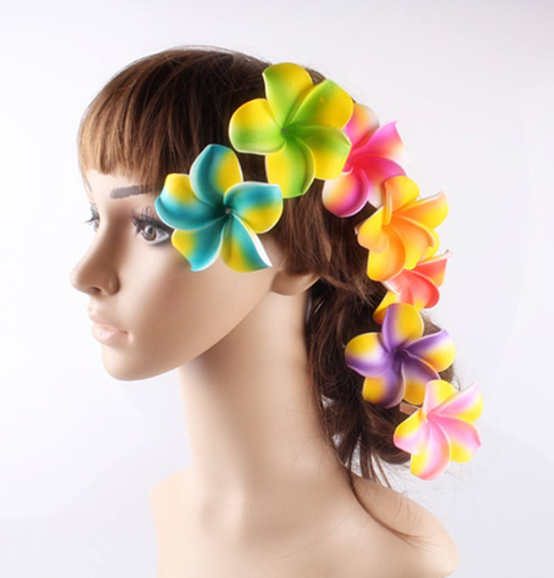 Party Foam Artificial Wholesale Artificial Foam Frangipani Foam Plumeria With Clip