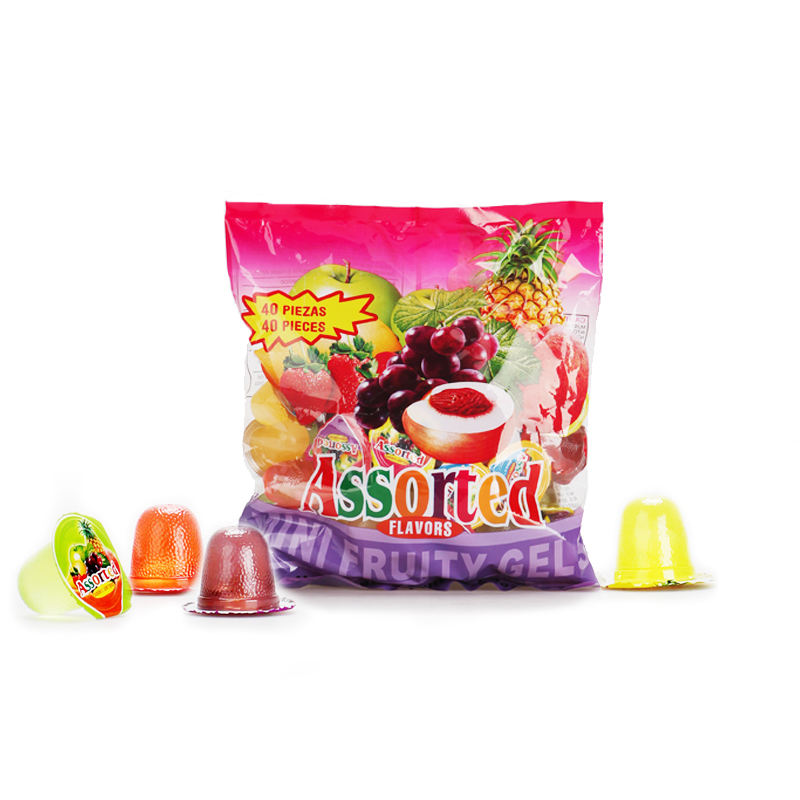 New products natural flavored assorted fruit mini jelly