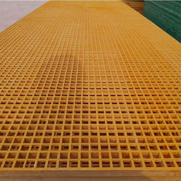 Professional Manufacture Industrial Platform Plastic Grating Molded Uv Protection Offshore Platfprms Outdoor Frp Grid