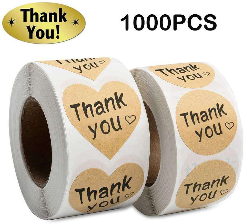 A4 Cosmetic Destructible Thank You Sticker Printer Vinyl Label