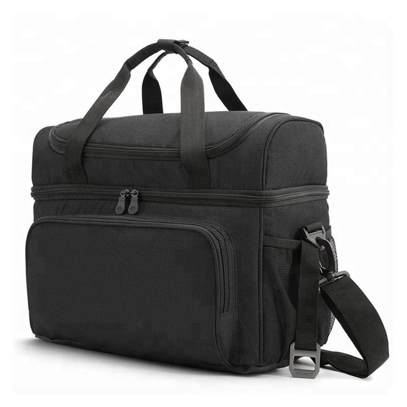 Insulated 15 Cans Large Travel Cooler Tote Lunch Bag 22L Soft Cooler Bag for Men Women to Picnic