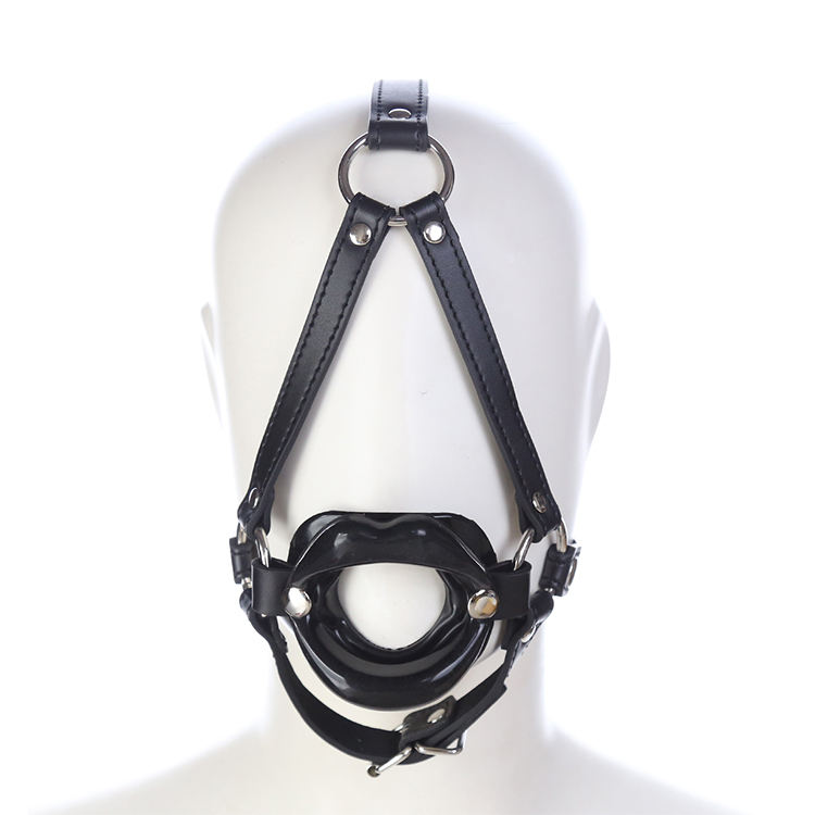 SM Game Bondage Sex Toy Bdsm Mouth Opener Head Mouth Ball Gag Retractor Head Harness