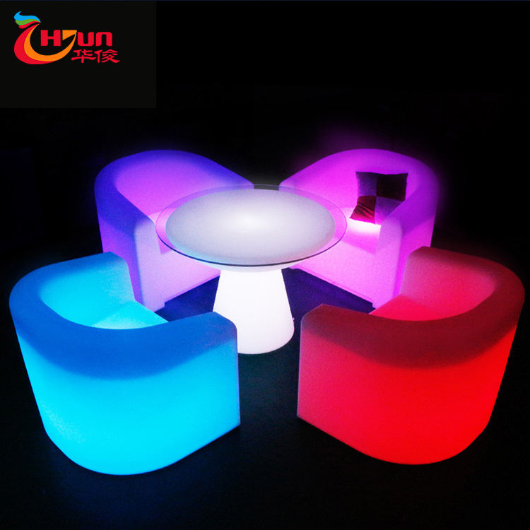 2020 New Product Modern Change Color By Remote Waiting Room Furniture Led Furniture For Hotel Room