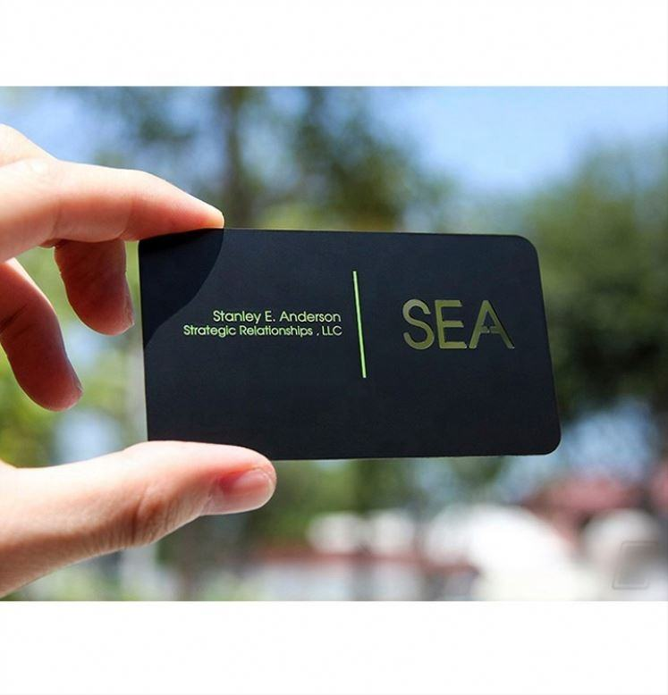 Personalized Quality Scrub Plated Black Business Metal Card