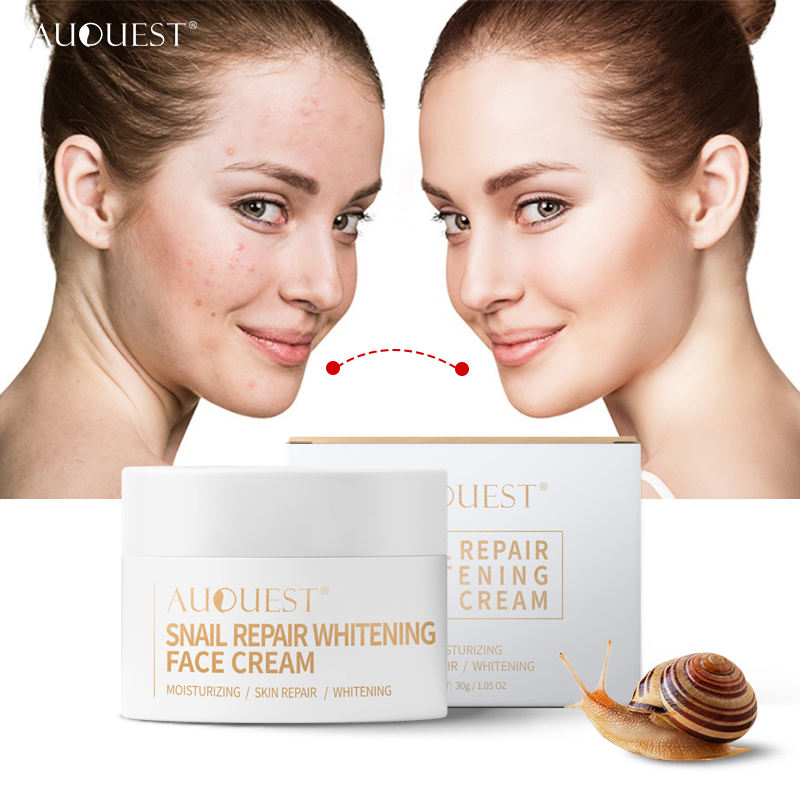Private Label Slak Wit Collageen Crème Hydraterende Anti-Aging Reparatie Instant Whitening Cream