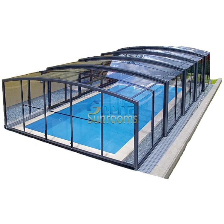 manufacturer directly hot sale Medium profile retractable automatic swimming pool cover safety outdoor spa pool