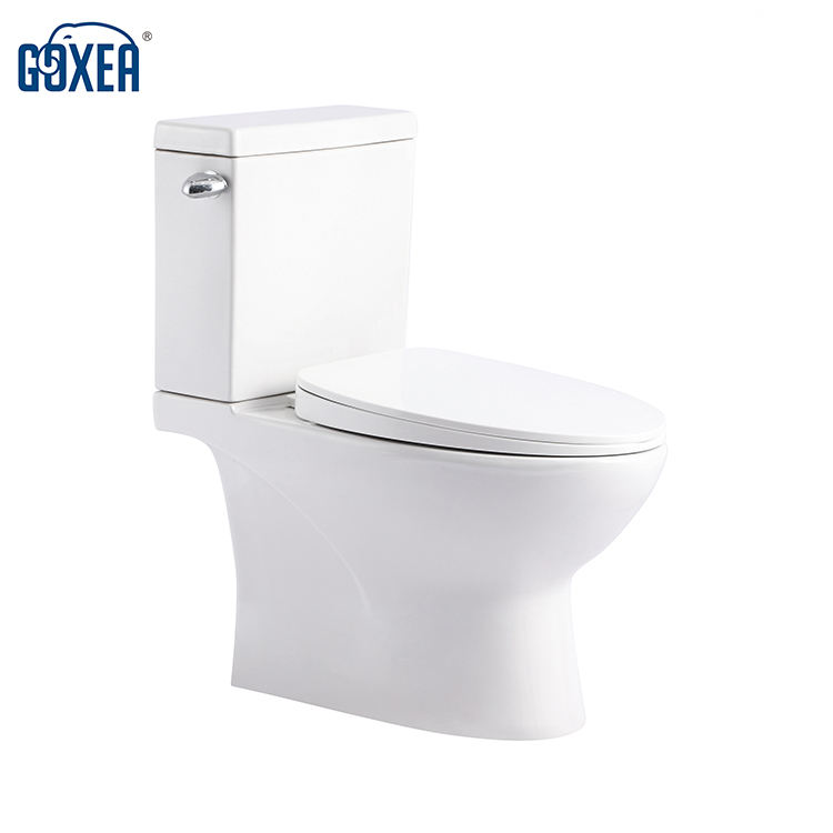 GX2400 Sanitary Ware Bathroom Ceramic Two Piece Wc Round Toilet with S-Trap