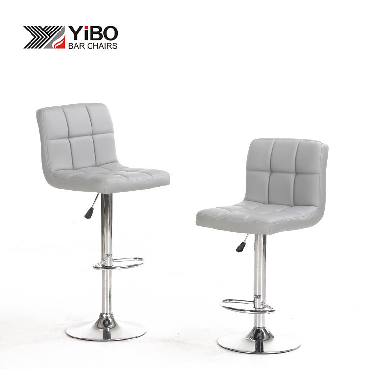 Modern 2 PCS PU Leather Modern Barstools High quality Adjustable leather Swivel bar Stool