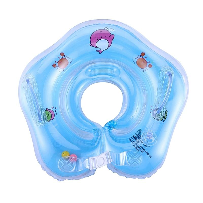 Amazon Newborn swimming neck ring inflatable baby neck float