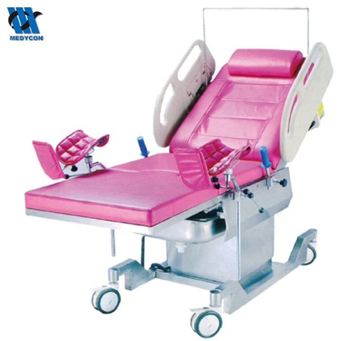 Manual obstetric labour birthing bed delivery table