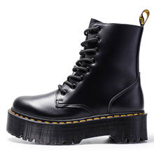 Black Casual shoes Winter Women boots Leather Martin boots