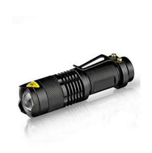 LED waterproof Flashlight 2000lm 3 Modes Zoomable emergency self defense aluminum police Mini Flash Light Penlight torch