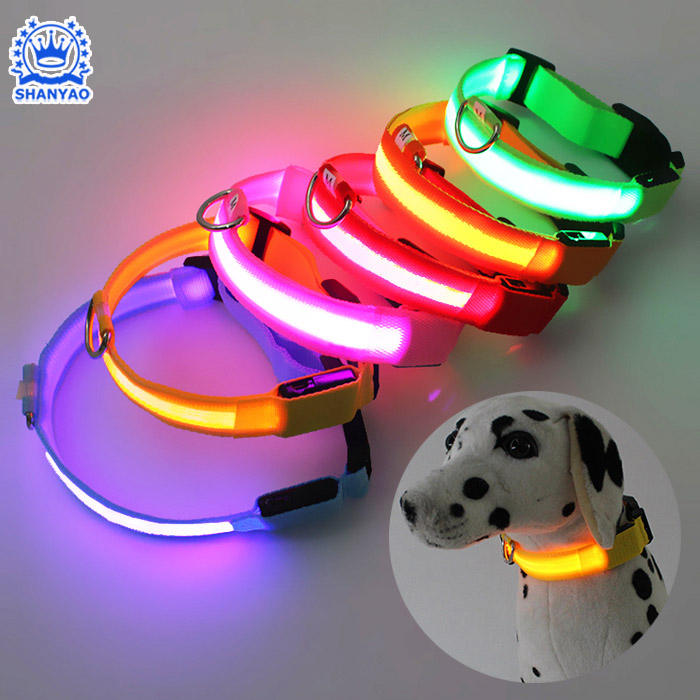 Hot Selling Factory Direct Sale LED Flashing Pet Collar Glowing Dog Collar For Safety Walking Pet and Against Pet Lost