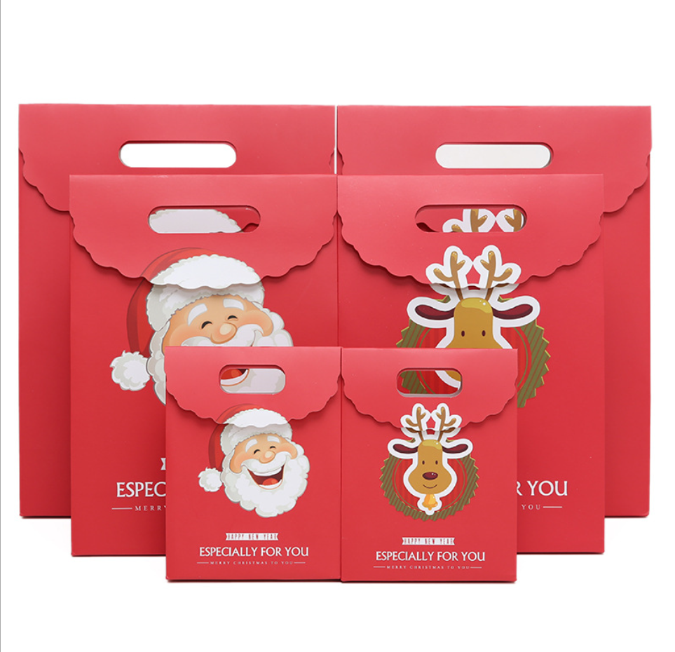 Candies Cookies Bundle Xmas Theme Gift Wrapping Bags Great Holiday Special Design Reusable Paper Christmas Presents Boxes