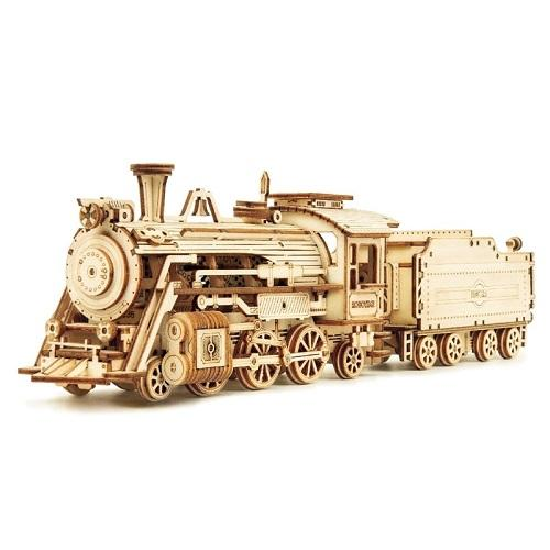 Dropshipping Super Wooden Mechanical Model Puzzle Assembly Wooden Puzzle 3D Steam Car Toy Mechanical Model Kit