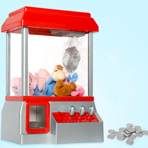 ABS Plastic Vending Candy Grabber Machine Toy Mini Doll Slot Game Arcade Candy Coin Operated Game Entertainment Claw Machine