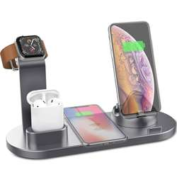 qi-enabled wireless charger station battery charger for cell
